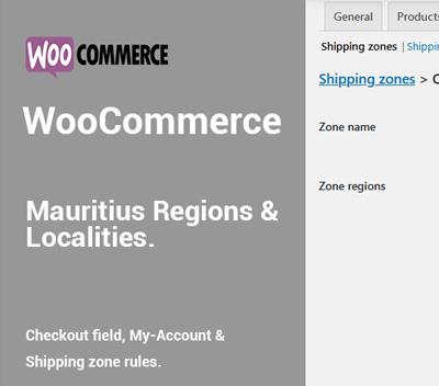 WooCommerce Mauritius Region plugin