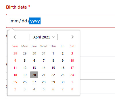 WooCommerce Checkout Page Date Picker Date Of Birth (DOB) field plugin.